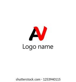 AV Letter Logo Design, Premium Vector Creative Modern identity design, vector