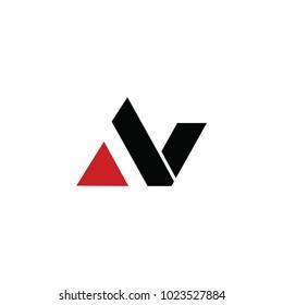 av letter logo. n letter logo