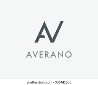 AV Letter monogram logo design. A, V and N initials mark. AN vector symbol