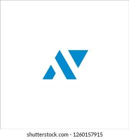 av letter vector logo