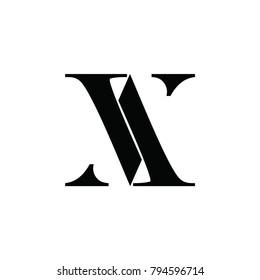 av letter vector logo. aa letter logo