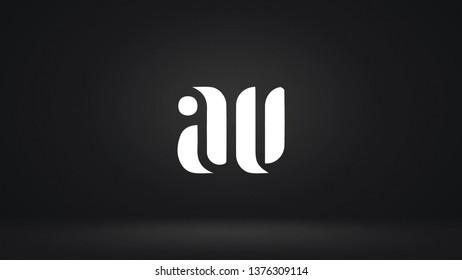 AV logo design template vector illustration