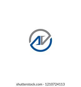 AV logo vector for brand or identity
