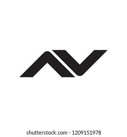 Av logo vector illustration