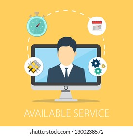 Available Customer service icons, Customer support icons, call center, service help Vector