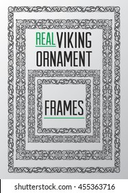 ALSO AVAILABLE HERE: https://www.etsy.com/ru/listing/495239218/real-viking-ornament-frames-digital  Real Viking ornament square frames. Medieval frames. Isolated black viking, celtic frames.