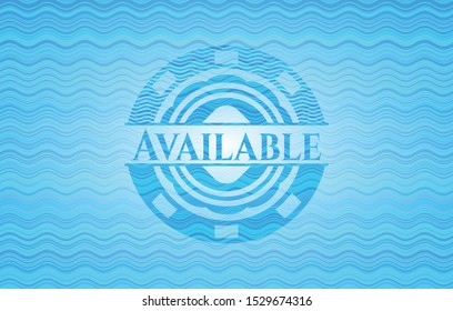 Available water representation badge. Vector Illustration. Detailed.