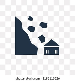 Avalanche and House vector icon isolated on transparent background, Avalanche and House transparency concept can be used web and mobile