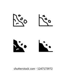 Avalanche Icon Logo Vector Symbol. Landslide Icon