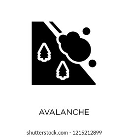 Avalanche icon. Avalanche symbol design from Winter collection. Simple element vector illustration on white background.