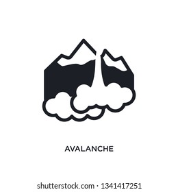 avalanche isolated icon. simple element illustration from winter concept icons. avalanche editable logo sign symbol design on white background. can be use for web and mobile