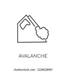Avalanche linear icon. Modern outline Avalanche logo concept on white background from Winter collection. Suitable for use on web apps, mobile apps and print media.