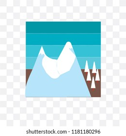 Avalanche vector icon isolated on transparent background, Avalanche logo concept