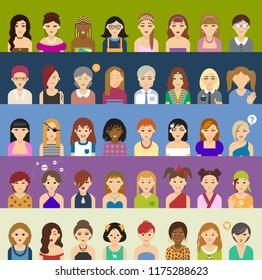 Avatar big set of women