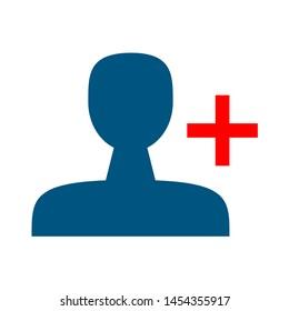 avatar icon. flat illustration of avatar. vector icon. avatar sign symbol