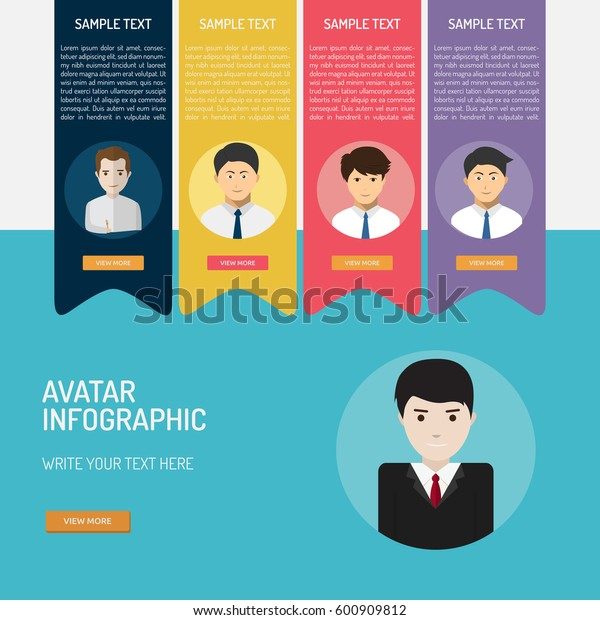 Avatar Infographic Stock Vector (Royalty Free) 600909812