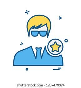 Avatar male icon design vector