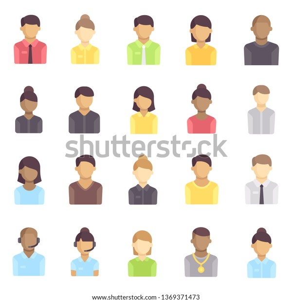 Vetor stock de Avatar Profile Set Icon (livre de direitos) 1369371473