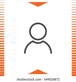 Avatar sign line vector icon. People sign line icon.