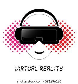 Avatar wearing Virtual Reality headset.