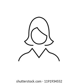 Avatar of women icon linear web design or mobile app. Thin line signs of swimming for design logo, visit card, etc.