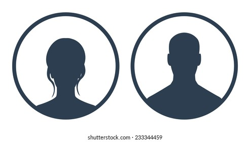 Avatars in circles vector illustration, eps10, easy to edit