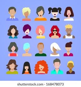 avatars icons.