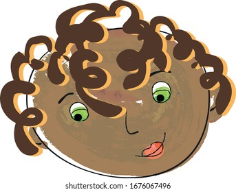 Avatars/icons representing faces of men and women in a style of kids drawings that can be used on parental websites, educational websites, book websites, etc.