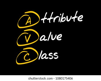 AVC - Attribute Value Class acronym, technology concept background