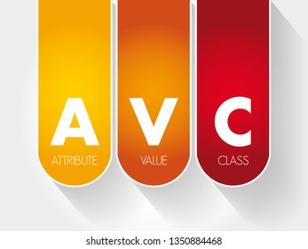 AVC - Attribute Value Class acronym, technology concept