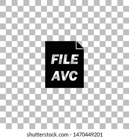 AVC. Black flat icon on a transparent background. Pictogram for your project