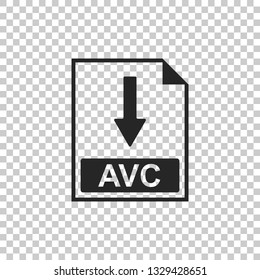 AVC file document icon. Download AVC button icon isolated on transparent background. Flat design. Vector Illustration