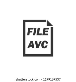 AVC File. Icon Flat
