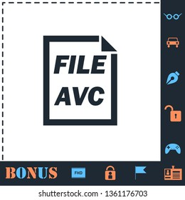 AVC File. Perfect icon with bonus simple icons