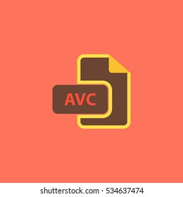 AVC file. Simple vector color icon