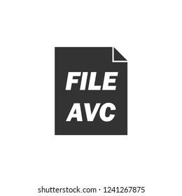 AVC. Icon Flat