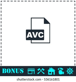 AVC icon flat. Simple vector symbol and bonus icon