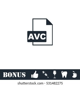 AVC icon flat. Vector illustration symbol and bonus pictogram