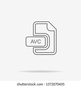 Avc icon. Vector concept illustration for design.