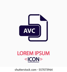 AVC Icon Vector. Flat simple pictogram on white background. Illustration symbol