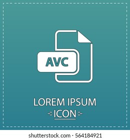 AVC Icon Vector. Flat simple white pictogram on blue background. Illustration symbol. Illustration symbol