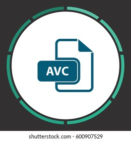 AVC Icon Vector. Flat simple Blue pictogram in a circle. Illustration symbol