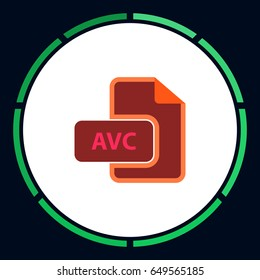 AVC Icon Vector. Flat simple pictogram on white background. Illustration symbol color