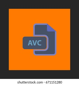 AVC Icon Vector. Flat simple pictogram on orange background. Illustration symbol color