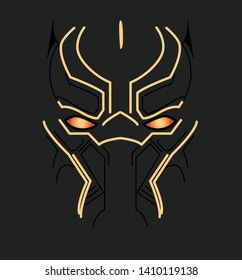AVENGERS BLACK PANTHER VECTOR MASK