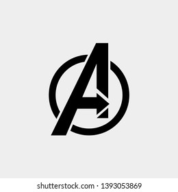 avengers Logo isolated vector icon, symbol avengers end game