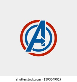 avengers Logo isolated vector icon, symbol avengers marvel icon - vector