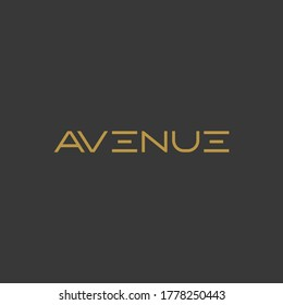 Avenue logo design with luxury and elegant look fit for cafe and restaurant industry or fashion