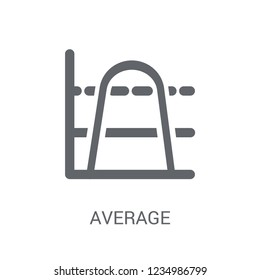 Average (arithmetic mean) icon. Trendy Average (arithmetic mean) logo concept on white background from business collection. Suitable for use on web apps, mobile apps and print media.