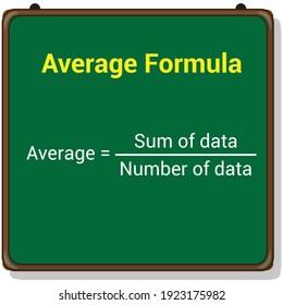 average formula on white background